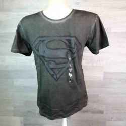 SUN CITY   tričko SUPERMAN žíhané tmavě šedé vel L