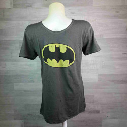 SUN CITY   tričko pánské žíhané šedé Batman vel 2XL