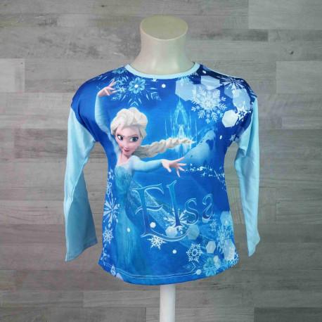 79afbbb83c5d tričko FROZEN dl. rukáv světle modré vel 116 - Dětské oblečení s Disney