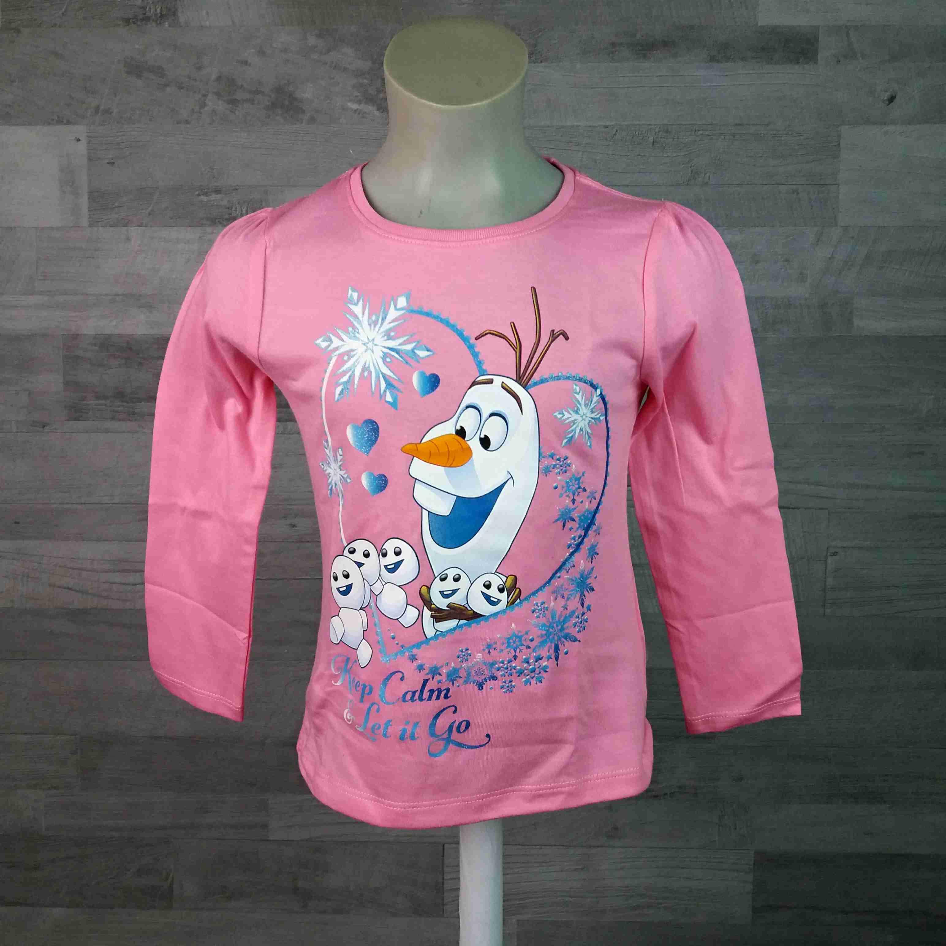 79b83a80bb7d tričko FROZEN dl. Rukáv růžové vel 128 - Dětské oblečení s Disney