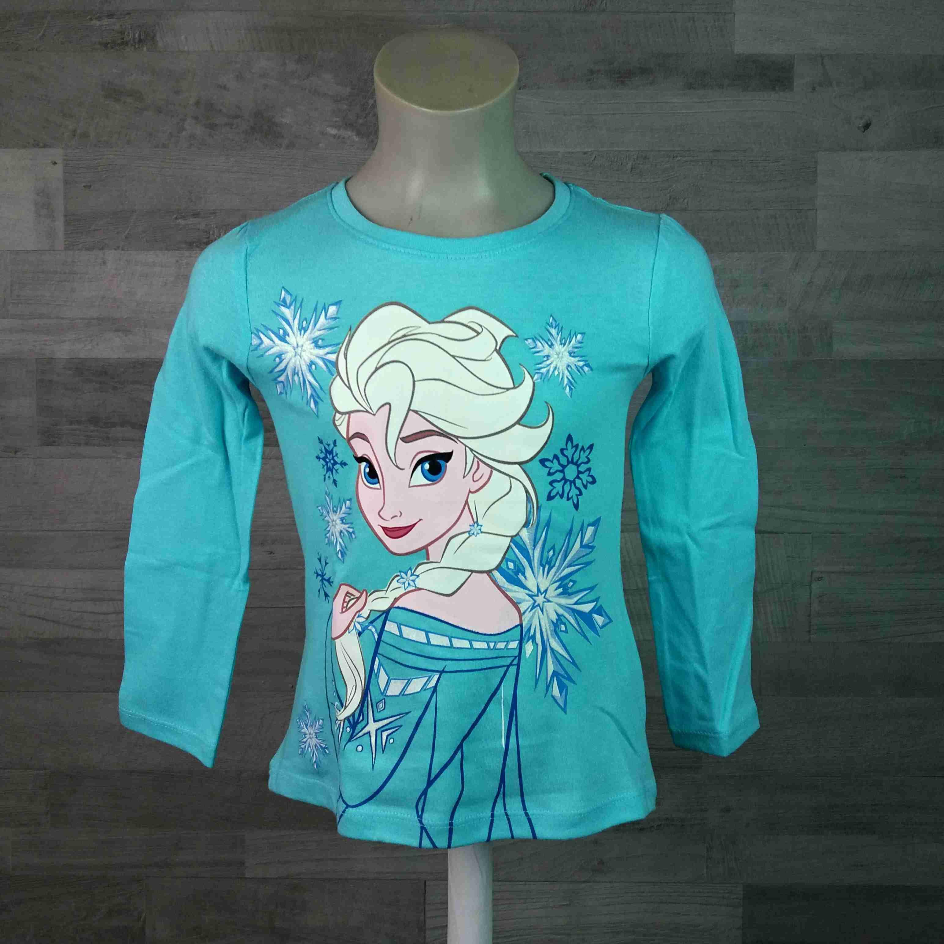 bd48bf2ab224 tričko dl.rukáv FROZEN s Elzou tyrkysové vel 104 - Dětské oblečení s Disney
