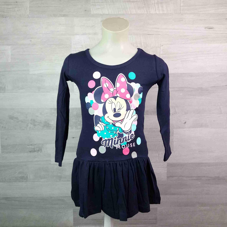 fc16844ccd6f DISNEY šaty MINNIE MOUSE tmavě modré vel 128 - Dětské oblečení s Disney