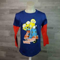 SETINO tričko tmavě modročervené MIMONI vel 116
